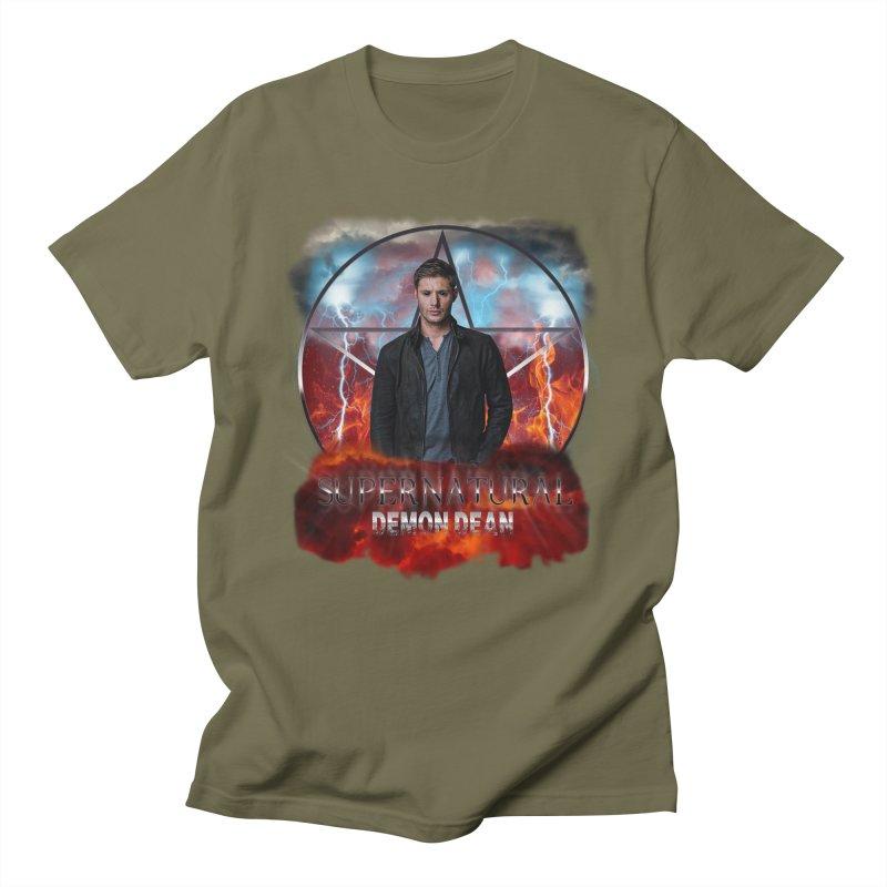Supernatural Demon Dean Threadless Men's T-shirt by ratherkool's Artist Shop