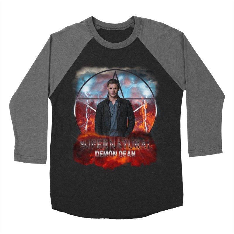 Supernatural Demon Dean Threadless Women's Baseball Triblend T-Shirt by ratherkool's Artist Shop