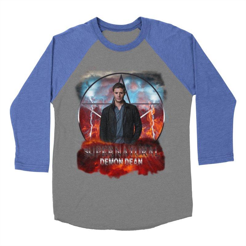 Supernatural Demon Dean Threadless Men's Baseball Triblend T-Shirt by ratherkool's Artist Shop