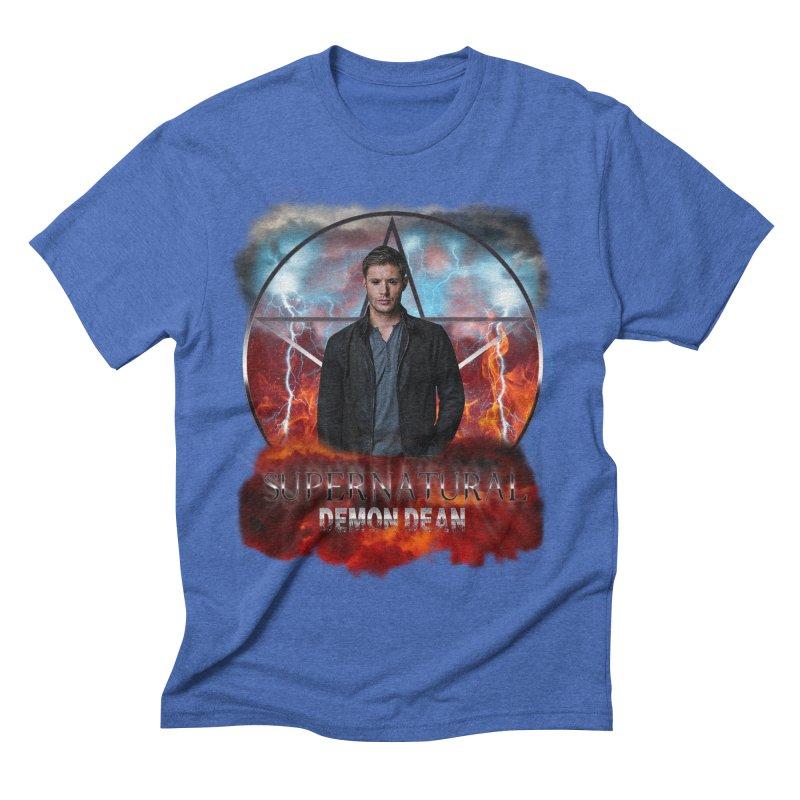 Supernatural Demon Dean Threadless Men's Triblend T-shirt by ratherkool's Artist Shop