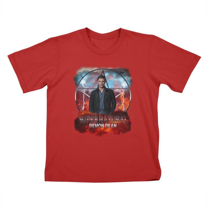 Supernatural Demon Dean Threadless Kids T-shirt by ratherkool's Artist Shop