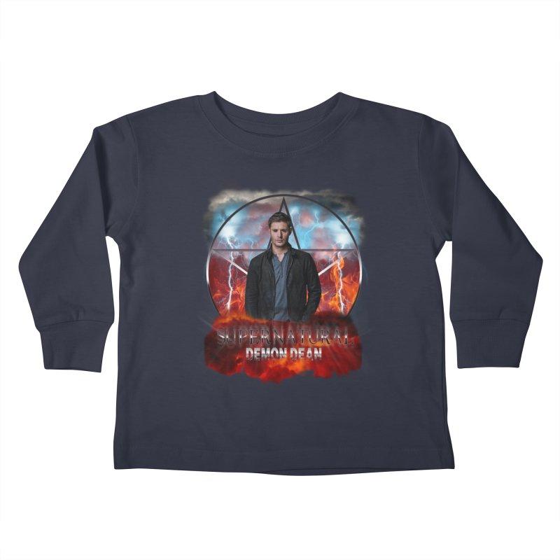 Supernatural Demon Dean Threadless Kids Toddler Longsleeve T-Shirt by ratherkool's Artist Shop