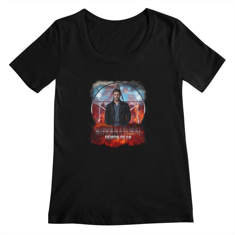 Supernatural Demon Dean Threadless Women's Scoopneck by ratherkool's Artist Shop