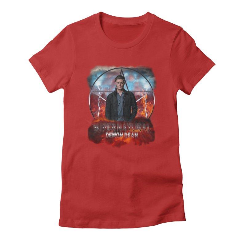 Supernatural Demon Dean Threadless Women's Fitted T-Shirt by ratherkool's Artist Shop