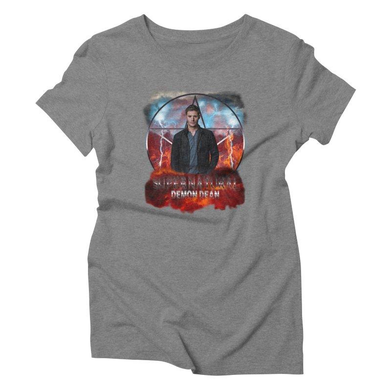 Supernatural Demon Dean Threadless Women's Triblend T-shirt by ratherkool's Artist Shop