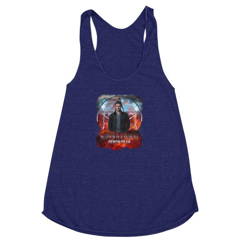 Supernatural Demon Dean Threadless Women's Racerback Triblend Tank by ratherkool's Artist Shop