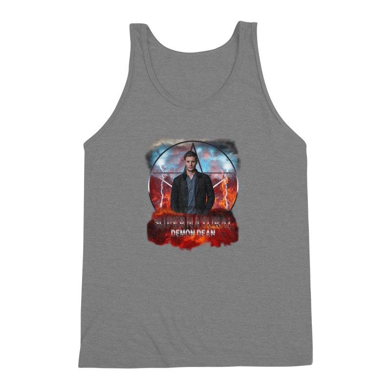 Supernatural Demon Dean Threadless Men's Triblend Tank by ratherkool's Artist Shop