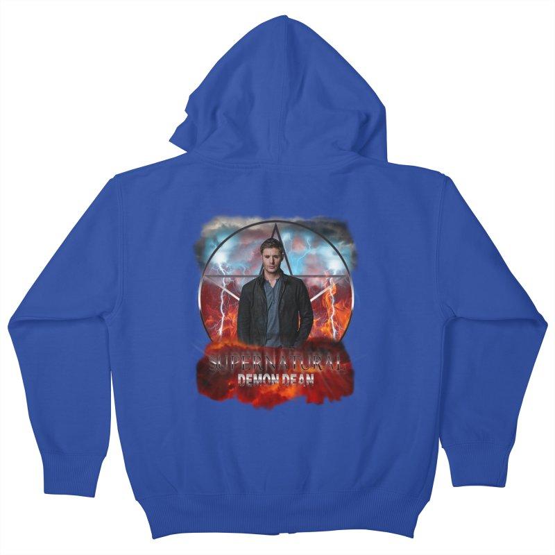 Supernatural Demon Dean Threadless Kids Zip-Up Hoody by ratherkool's Artist Shop