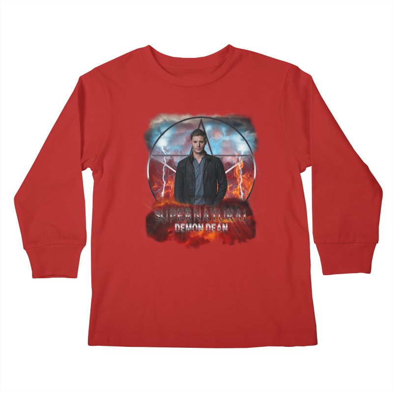 Supernatural Demon Dean Threadless Kids Longsleeve T-Shirt by ratherkool's Artist Shop