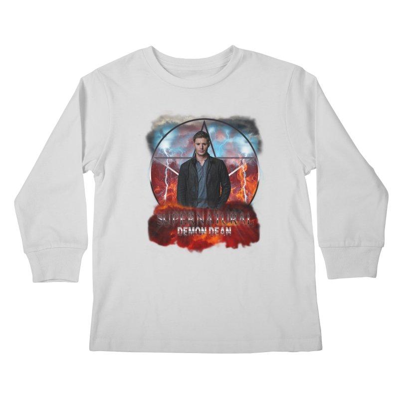 Supernatural Demon Dean Threadless Kids Longsleeve T-Shirt by ratherkool's Artist Shop