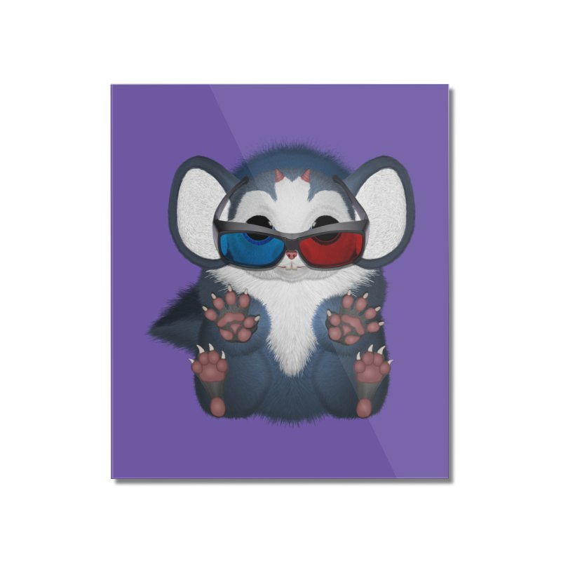 Fu Mouse 3D Glasses Home Mounted Acrylic Print by ratherkool's Artist Shop
