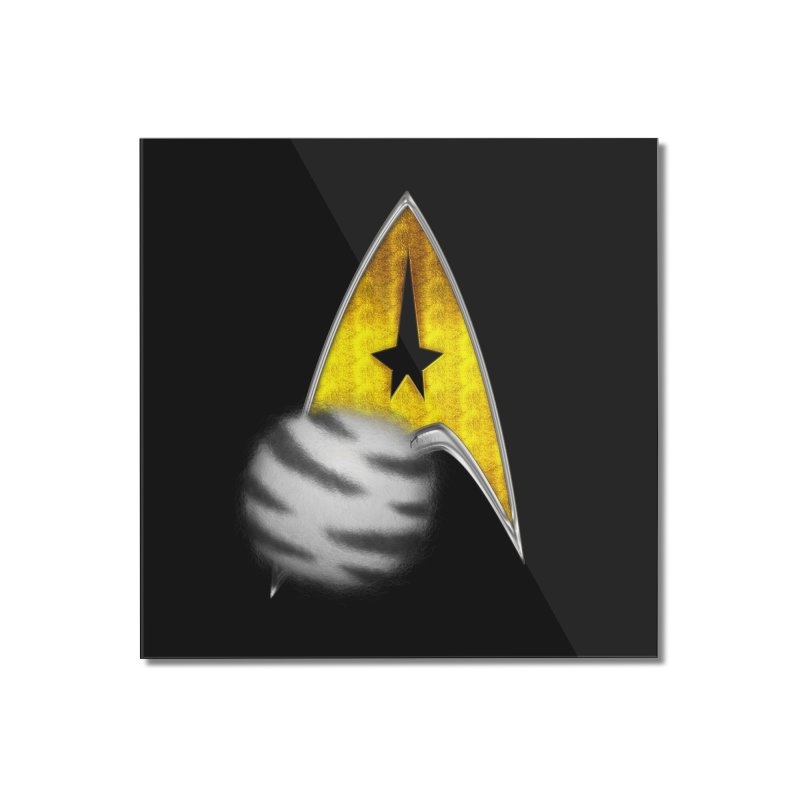 StarTrek Command Signia Syberain Tiger Tribble Home Mounted Acrylic Print by ratherkool's Artist Shop