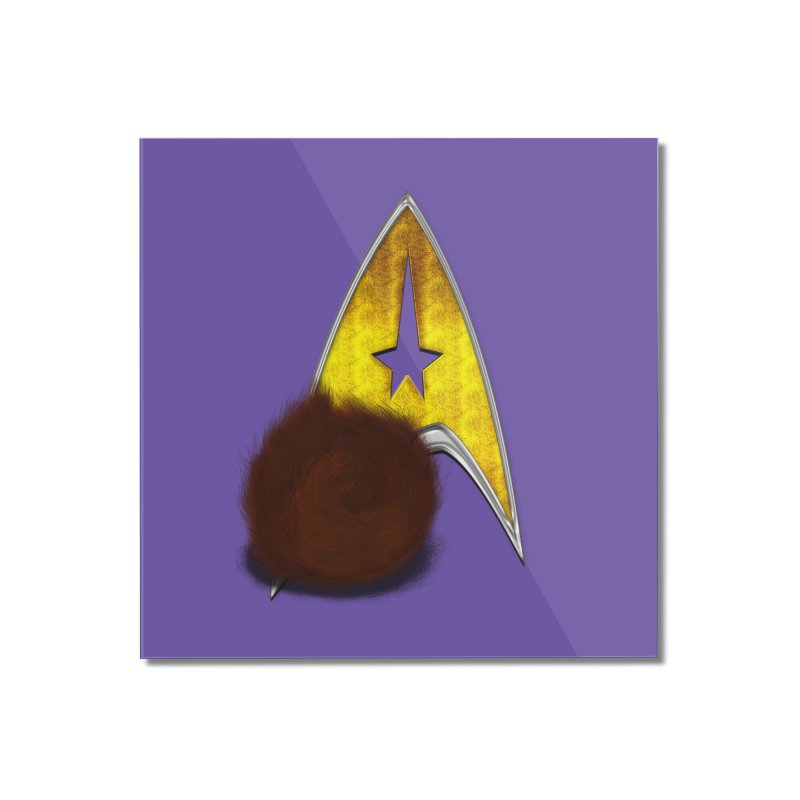 StarTrek Command Signia Wiggi Tribble L Home Mounted Acrylic Print by ratherkool's Artist Shop