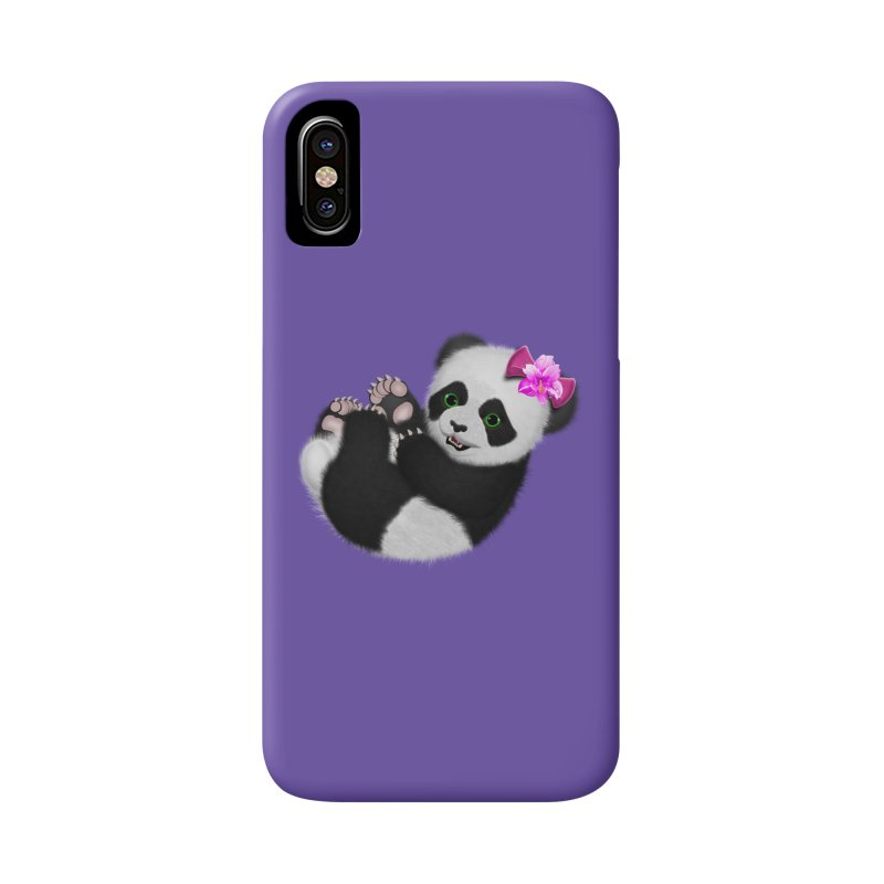 Baby Girl Panda Bear Accessories Phone Case by ratherkool's Artist Shop