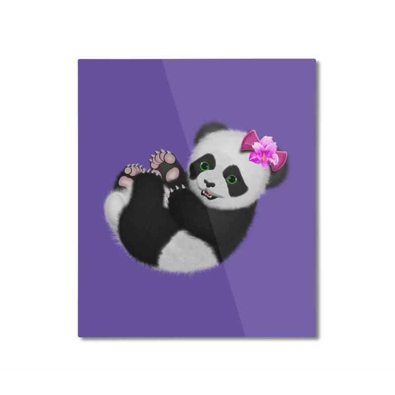 Baby Girl Panda Bear Home Mounted Aluminum Print by ratherkool's Artist Shop