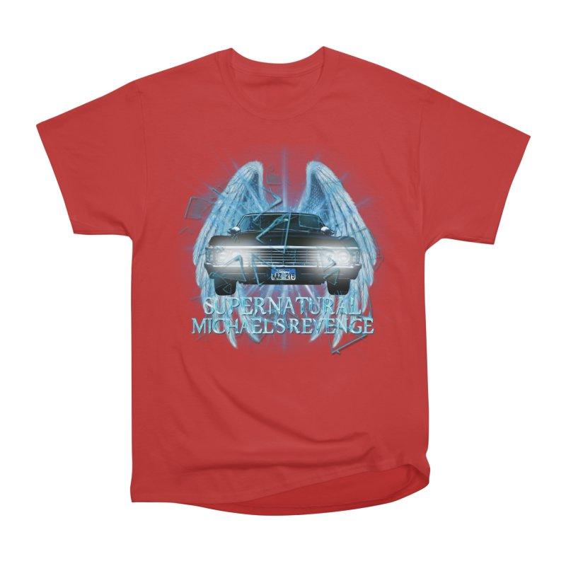 Supernatural Shatter Uninverse Archangel Michael Revenge Men's Heavyweight T-Shirt by ratherkool's Artist Shop