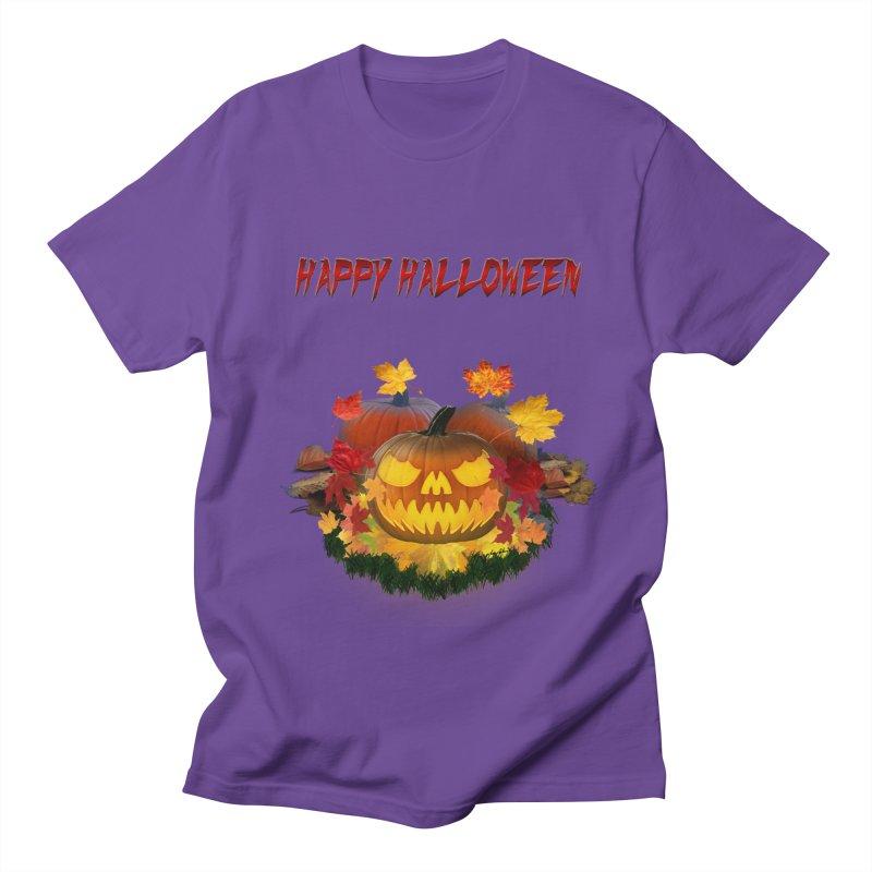 Autumn Leaves Pumpkin Women's Regular Unisex T-Shirt by ratherkool's Artist Shop