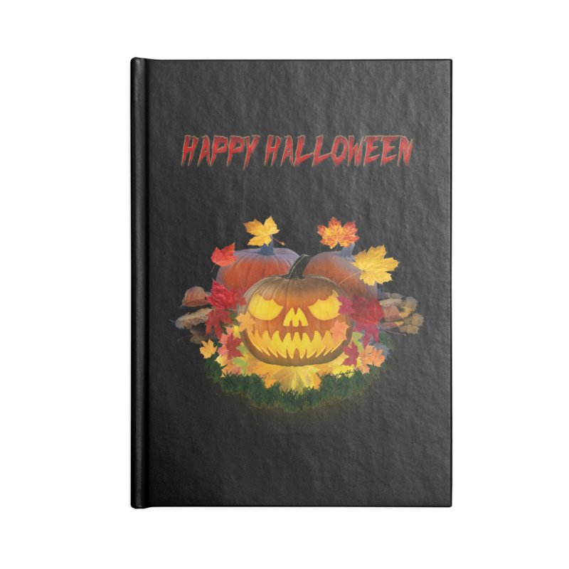 Autumn Leaves Pumpkin Accessories Notebook by ratherkool's Artist Shop