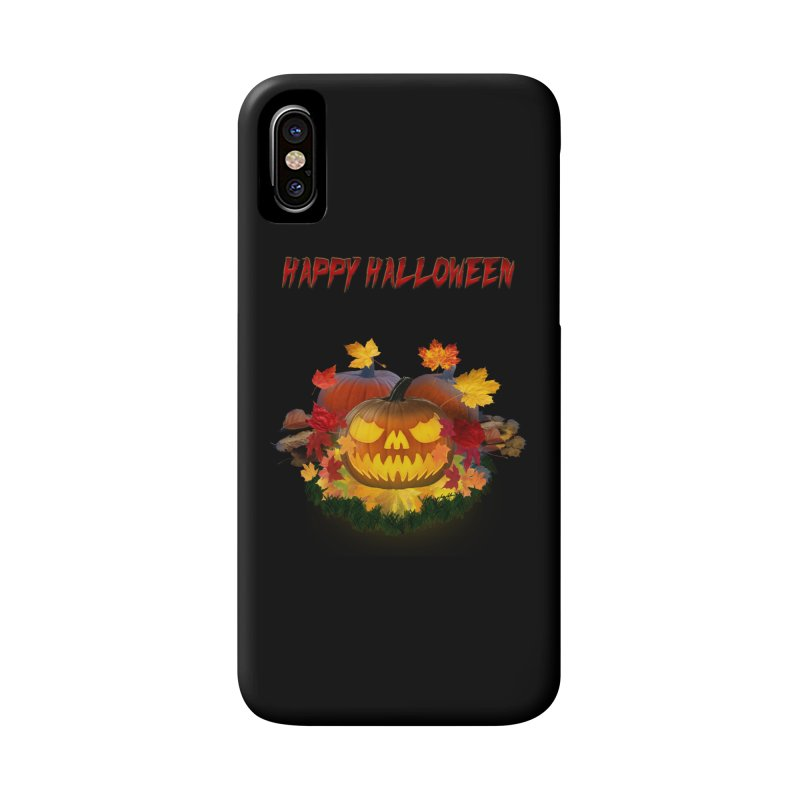 Autumn Leaves Pumpkin Accessories Phone Case by ratherkool's Artist Shop