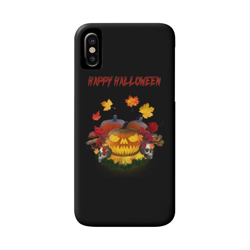 Autumn Leaves Pumpkin Skulls Accessories Phone Case by ratherkool's Artist Shop
