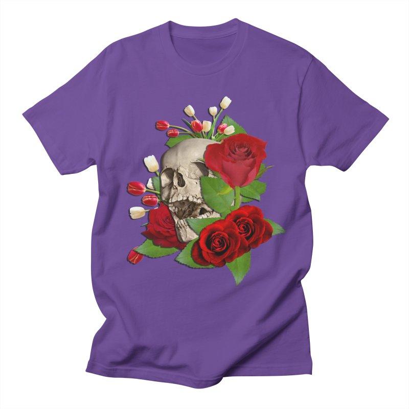 Skull Bed of Roses Women's Regular Unisex T-Shirt by ratherkool's Artist Shop
