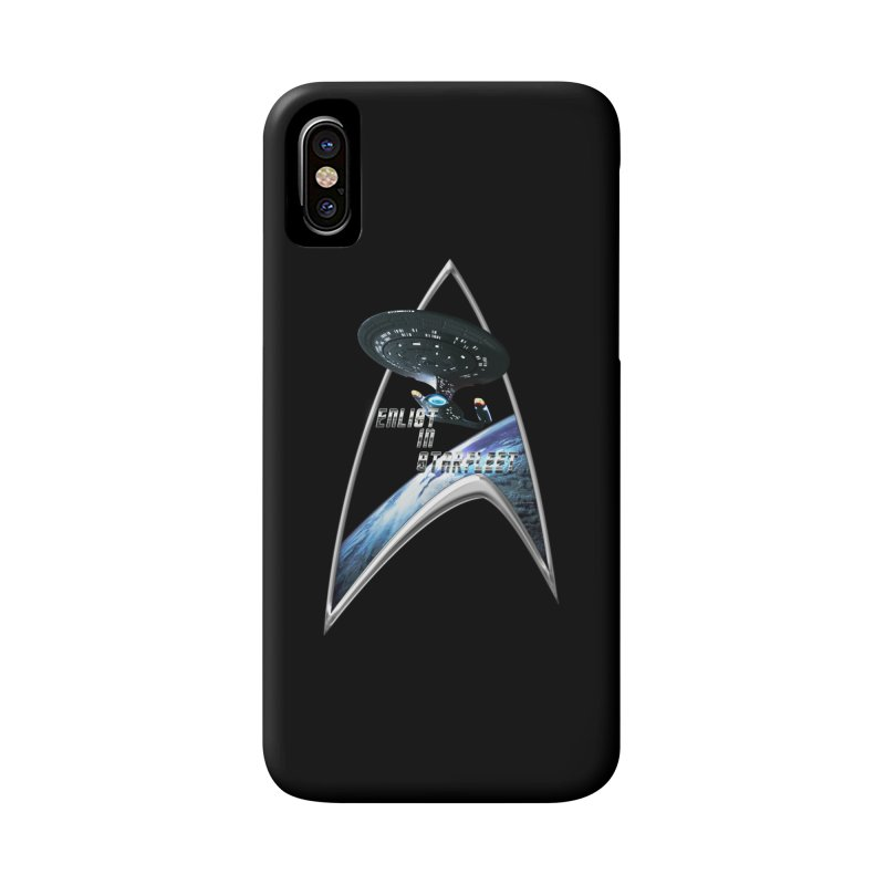 Enlist in StarFleet Enterprise D Galaxy Class Accessories Phone Case by ratherkool's Artist Shop