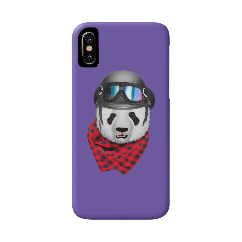 Panda Biker 2 Accessories Phone Case by ratherkool's Artist Shop