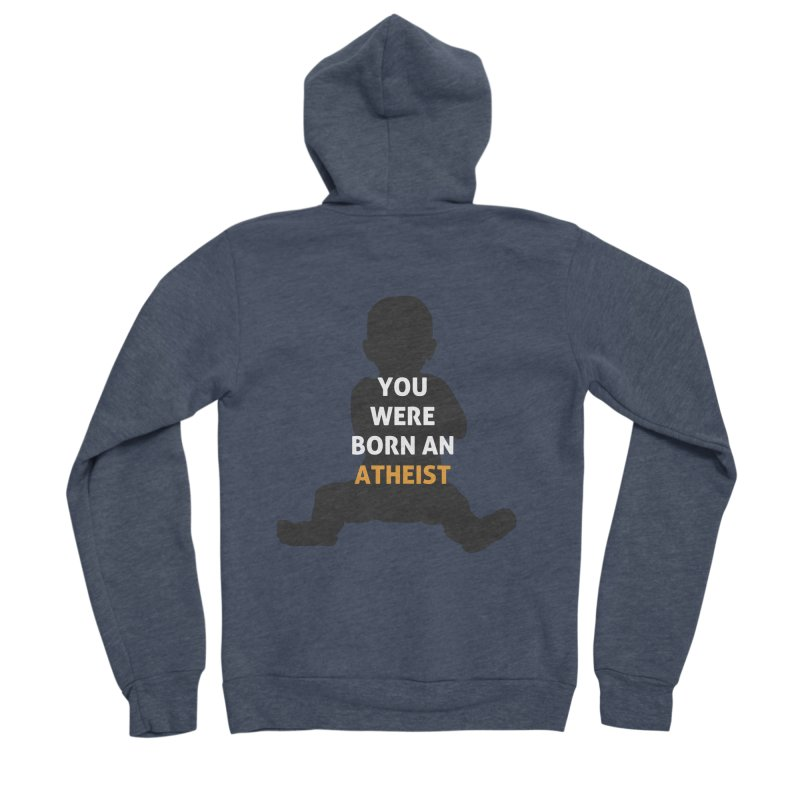 Born Atheist Men's Sponge Fleece Zip-Up Hoody by Rational Tees
