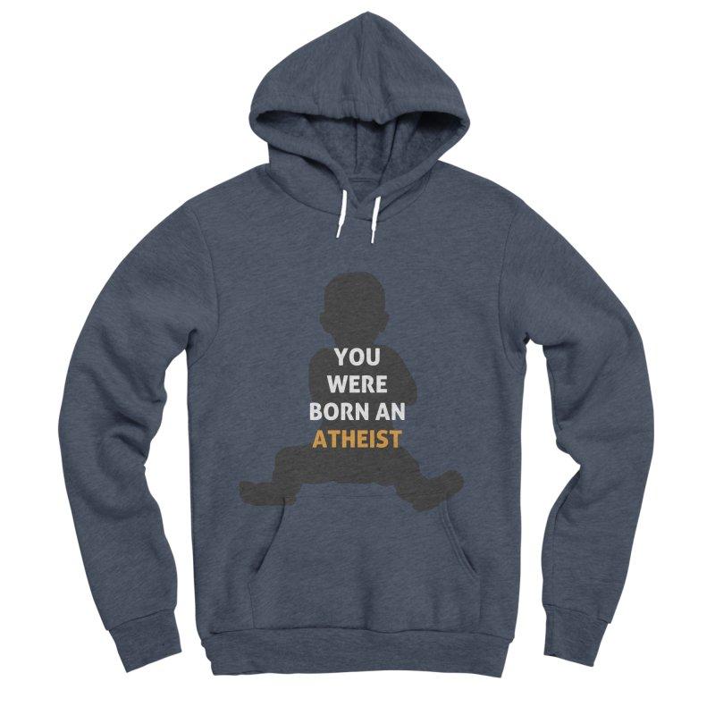 Born Atheist Men's Sponge Fleece Pullover Hoody by Rational Tees