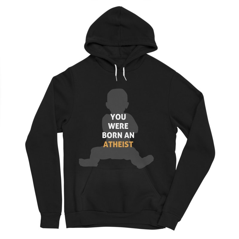 Born Atheist Men's Sponge Fleece Pullover Hoody by Rational Tees