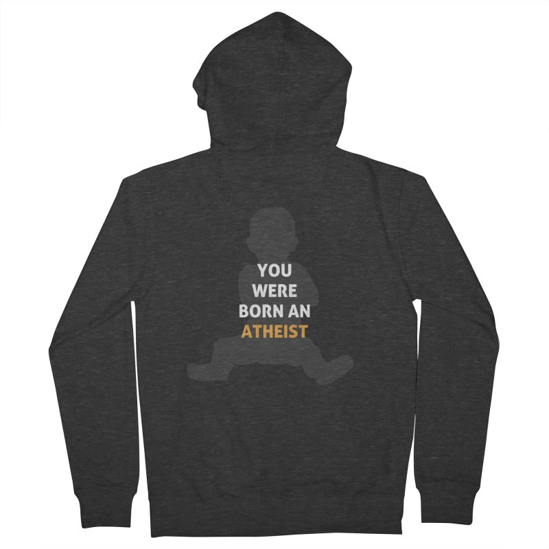 Born Atheist Men's French Terry Zip-Up Hoody by Rational Tees