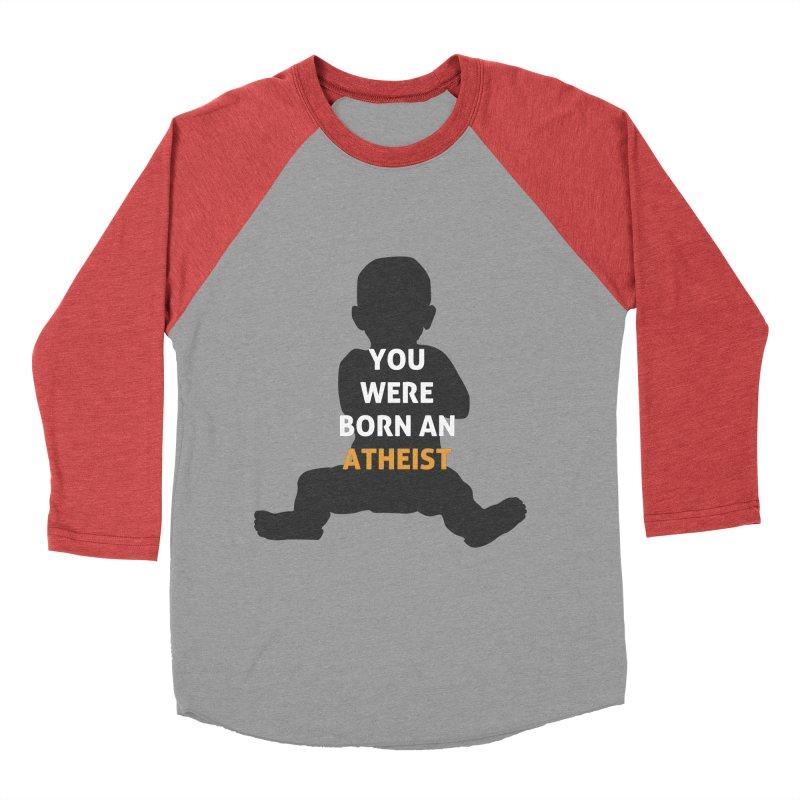 Born Atheist Men's Baseball Triblend Longsleeve T-Shirt by Rational Tees