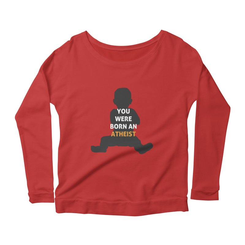 Born Atheist Women's Scoop Neck Longsleeve T-Shirt by Rational Tees