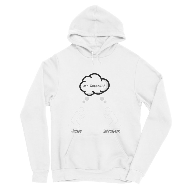 Who created whom? Men's Sponge Fleece Pullover Hoody by Rational Tees