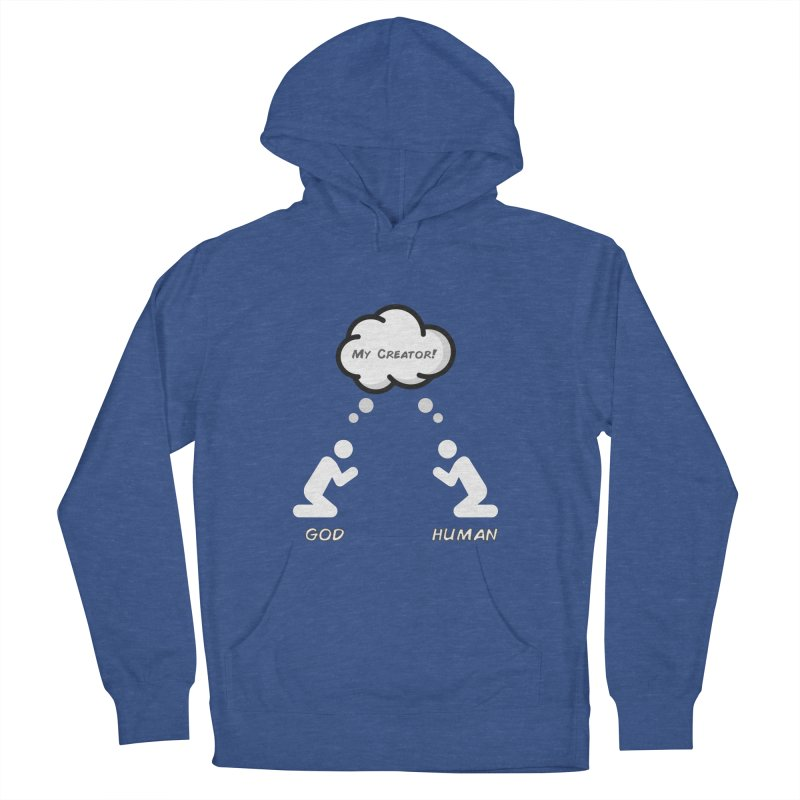 Who created whom? Women's French Terry Pullover Hoody by Rational Tees