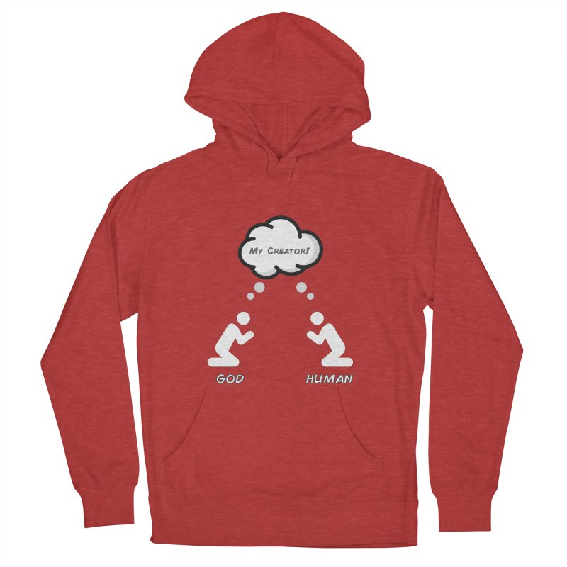 Who created whom? Men's French Terry Pullover Hoody by Rational Tees