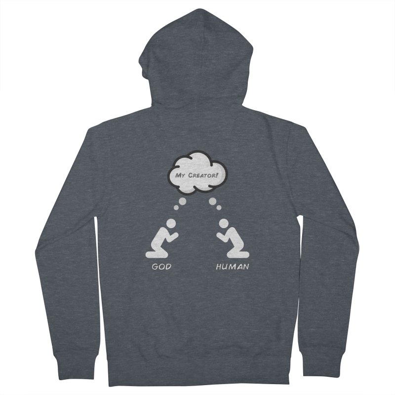 Who created whom? Men's French Terry Zip-Up Hoody by Rational Tees