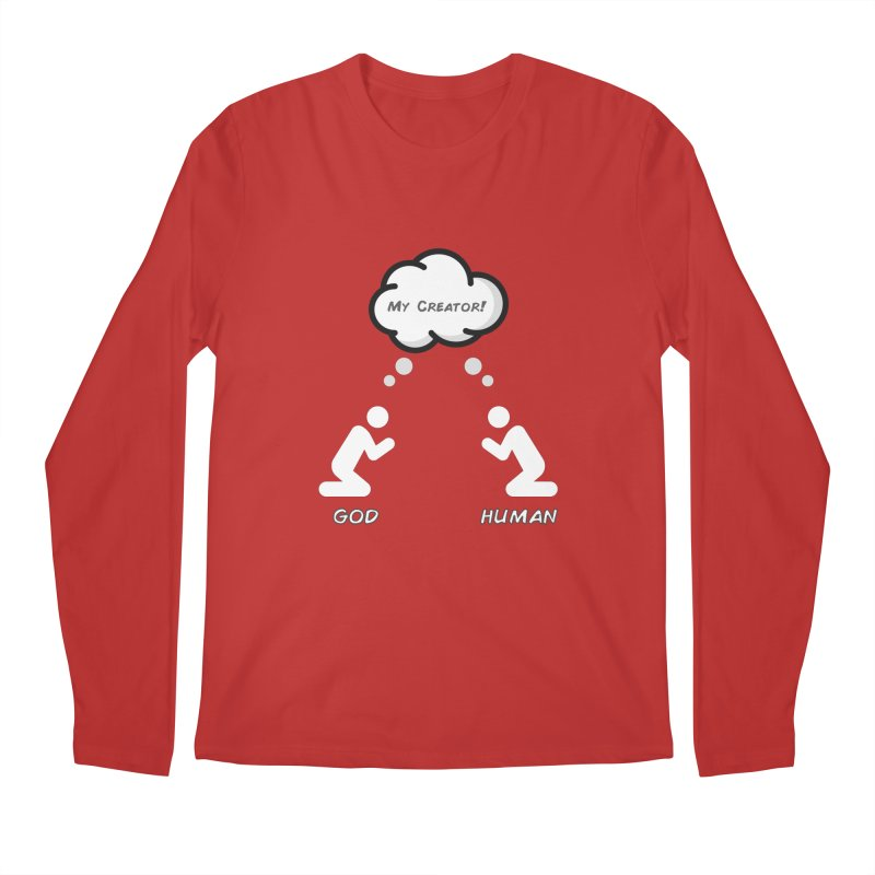 Who created whom? Men's Regular Longsleeve T-Shirt by Rational Tees