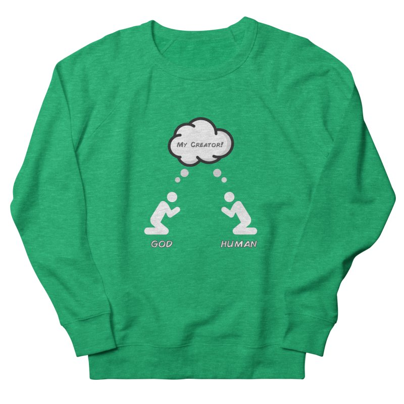 Who created whom? Men's French Terry Sweatshirt by Rational Tees