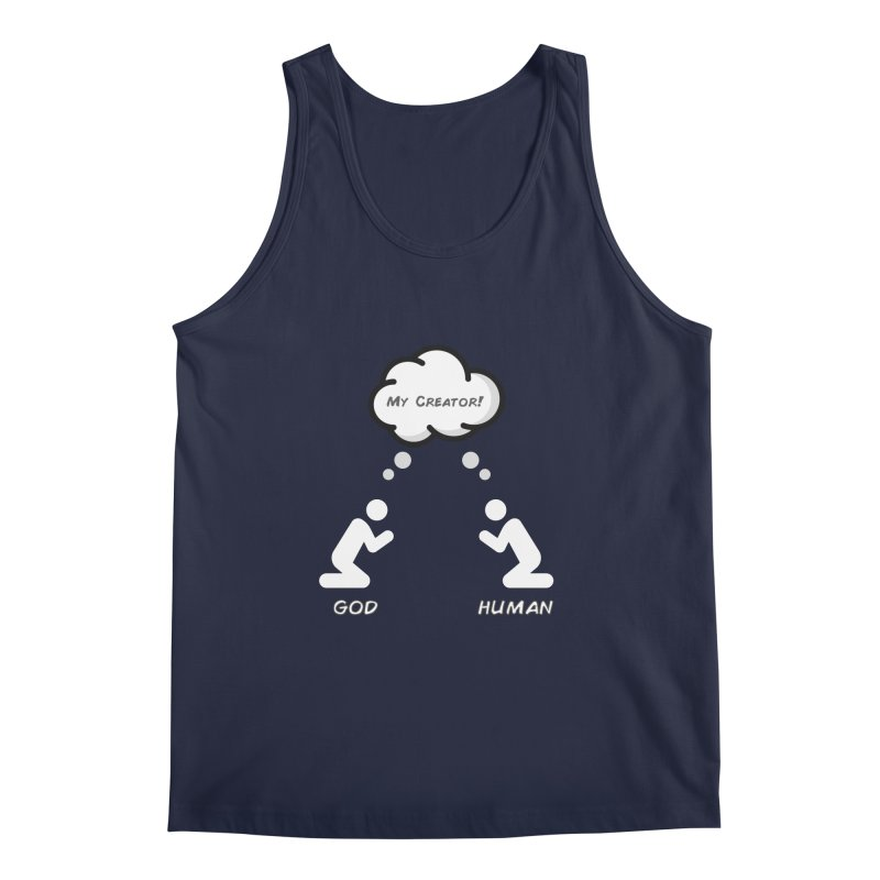Who created whom? Men's Regular Tank by Rational Tees