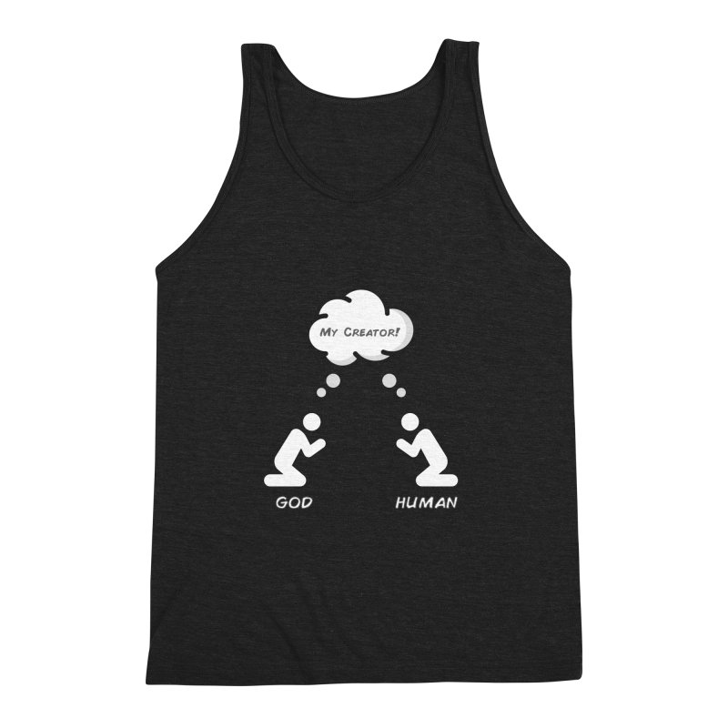 Who created whom? Men's Triblend Tank by Rational Tees