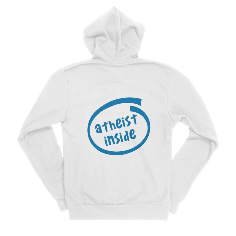 Atheist inside Men's Sponge Fleece Zip-Up Hoody by Rational Tees
