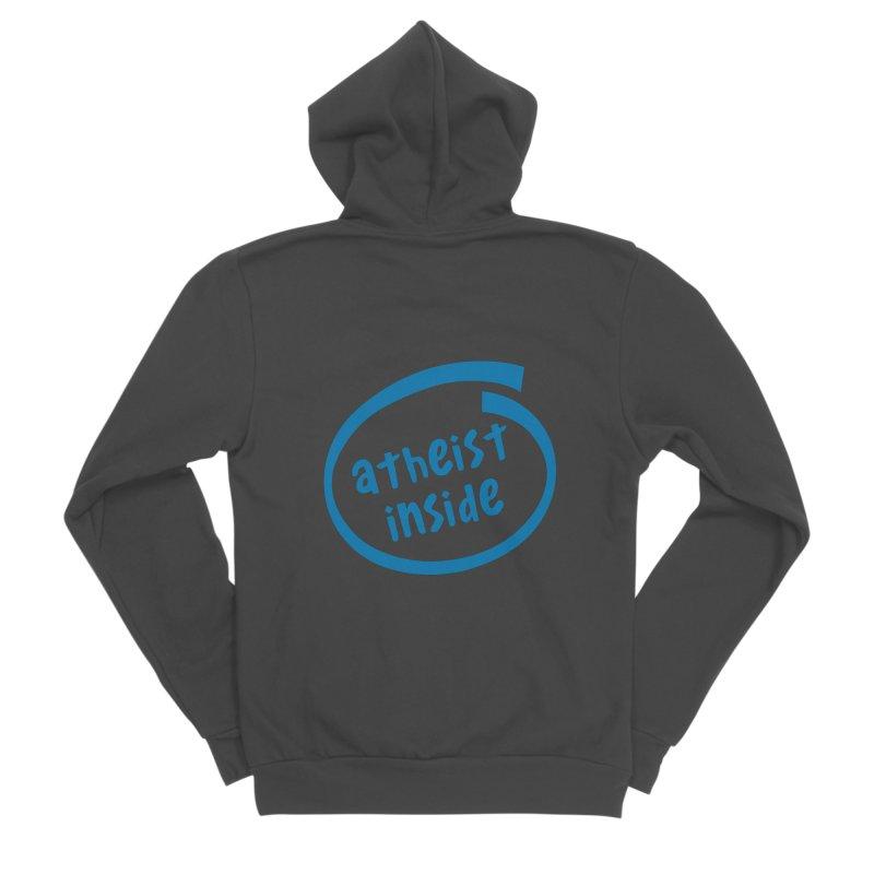 Atheist inside Women's Sponge Fleece Zip-Up Hoody by Rational Tees