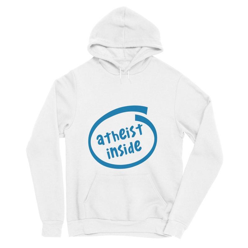 Atheist inside Men's Sponge Fleece Pullover Hoody by Rational Tees