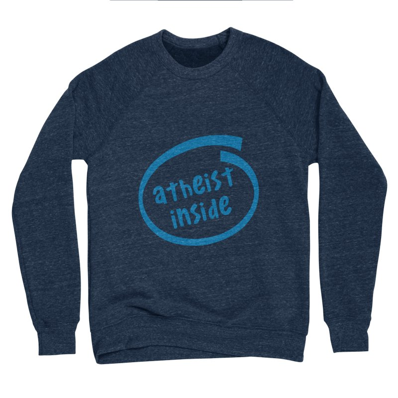 Atheist inside Men's Sponge Fleece Sweatshirt by Rational Tees