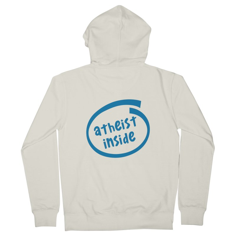 Atheist inside Women's French Terry Zip-Up Hoody by Rational Tees