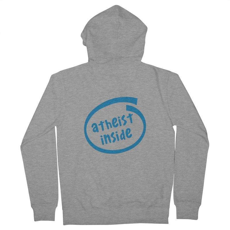 Atheist inside Men's French Terry Zip-Up Hoody by Rational Tees