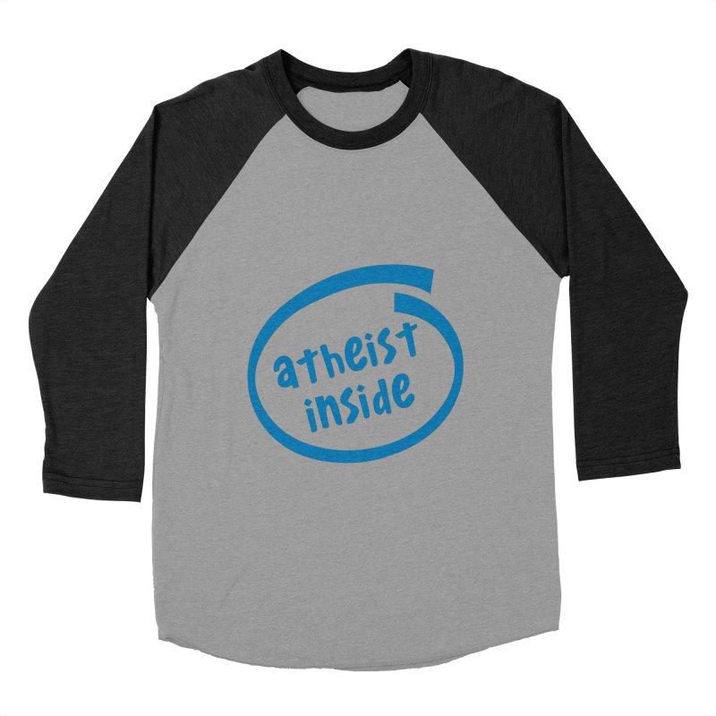 Atheist inside Women's Baseball Triblend Longsleeve T-Shirt by Rational Tees