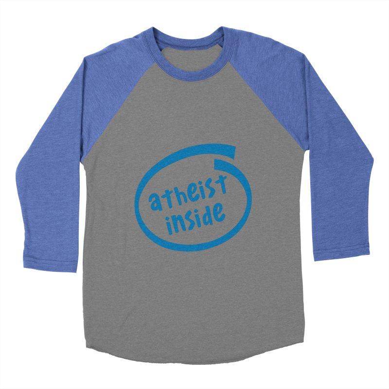 Atheist inside Men's Baseball Triblend Longsleeve T-Shirt by Rational Tees