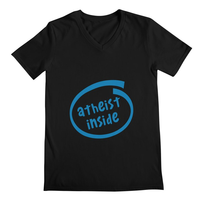 Atheist inside Men's Regular V-Neck by Rational Tees